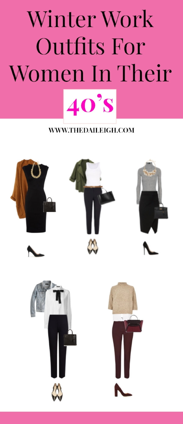 Winter Work Outfits For Women In Their 40's