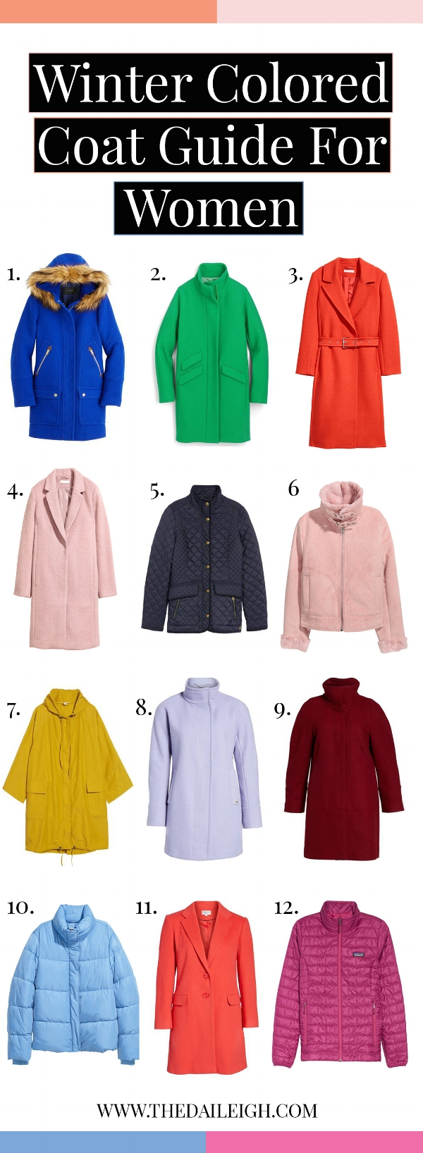Winter Colored Coat Guide