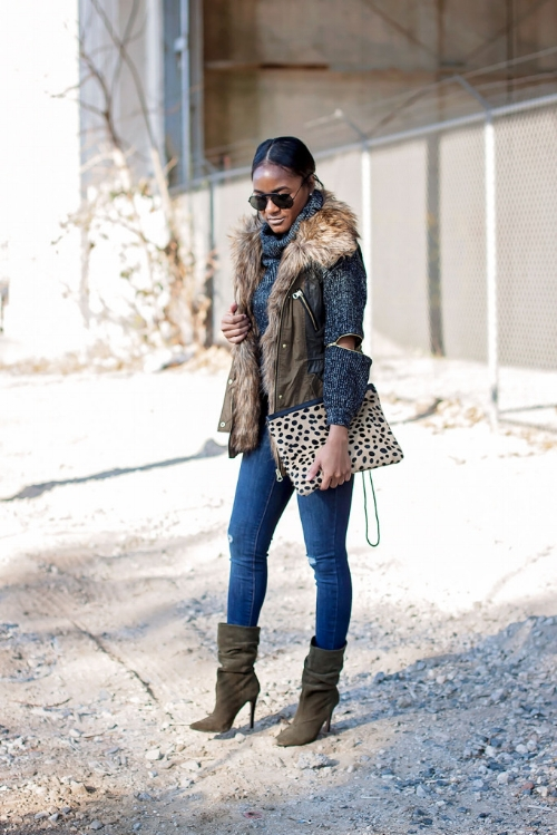 How To Wear A Leopard Bag