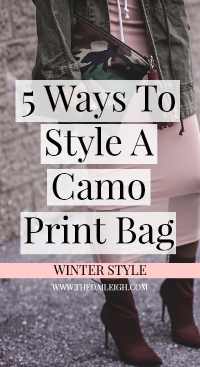 How To Style A Camo Print Bag