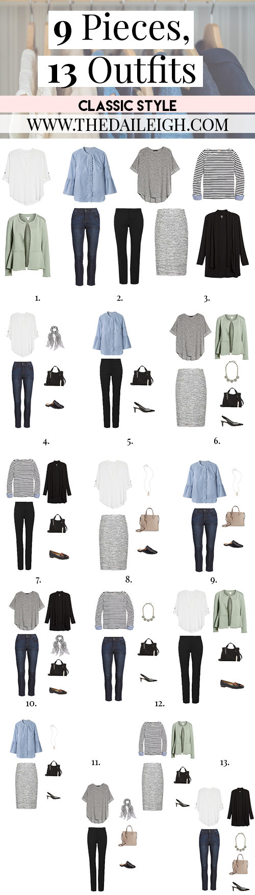 9 Pieces, 13 Outfits - Classic Style