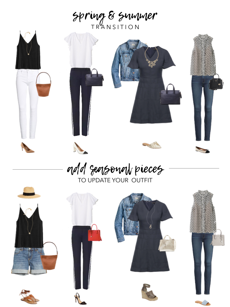 ... and on-trend style illustrating how to transition your clothes through  different seasons. Using your basics as the base pieces and mixing in  different ... 0c473421e