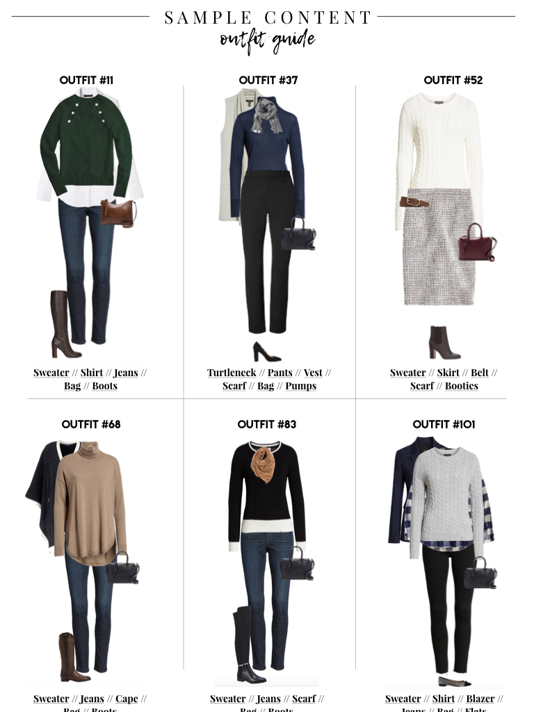 b334310a7 Below are a few sample outfits mixing and matching your winter essentials  with links conveniently below each outfit for you to shop the looks: