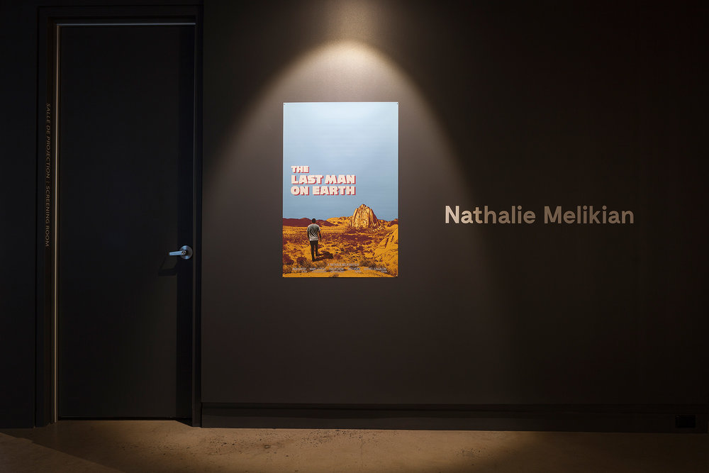 © Nathalie Melikian,  The Last Man on Earth  (2016). Vue de l'exposition. Photo : Marilou Crispin.