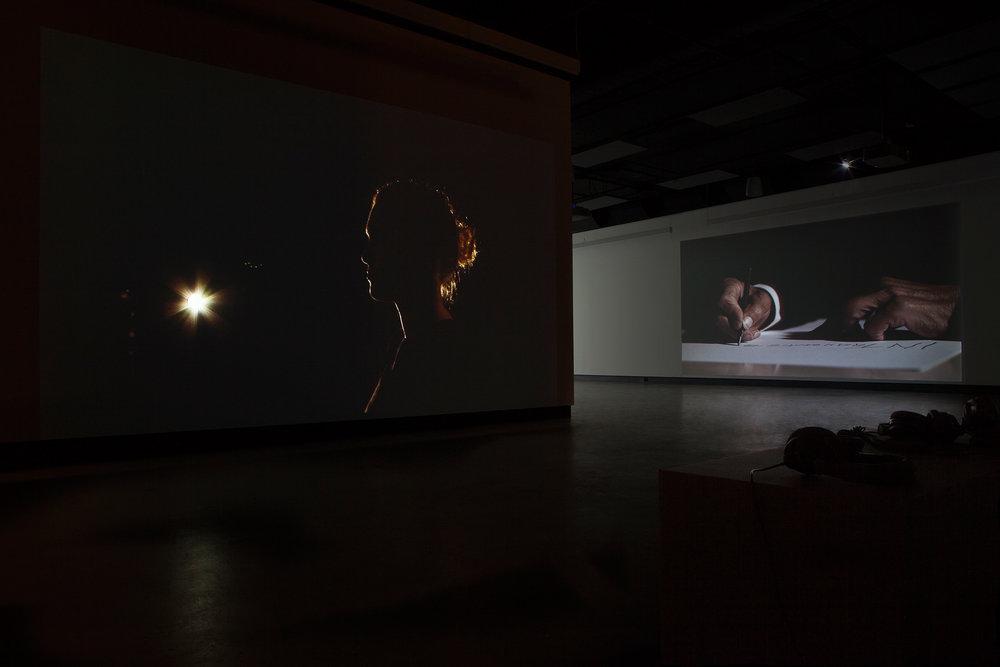 © Damir Očko,vue de l'exposition. Photo : Marilou Crispin.