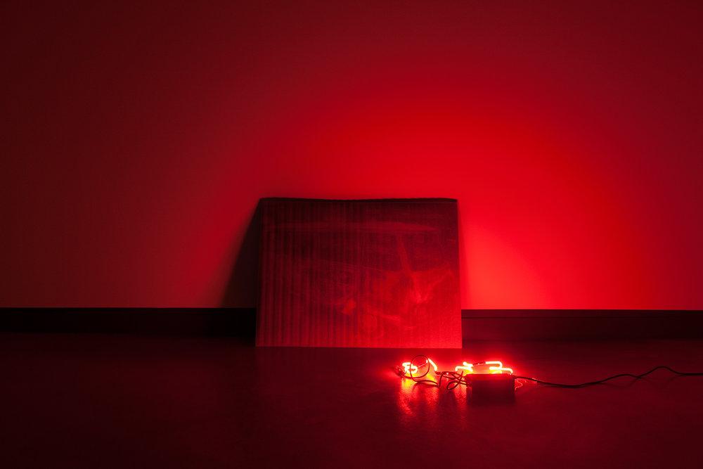 © Nadia Seboussi, vue de l'exposition  Hidad . Photo : Marilou Crispin.