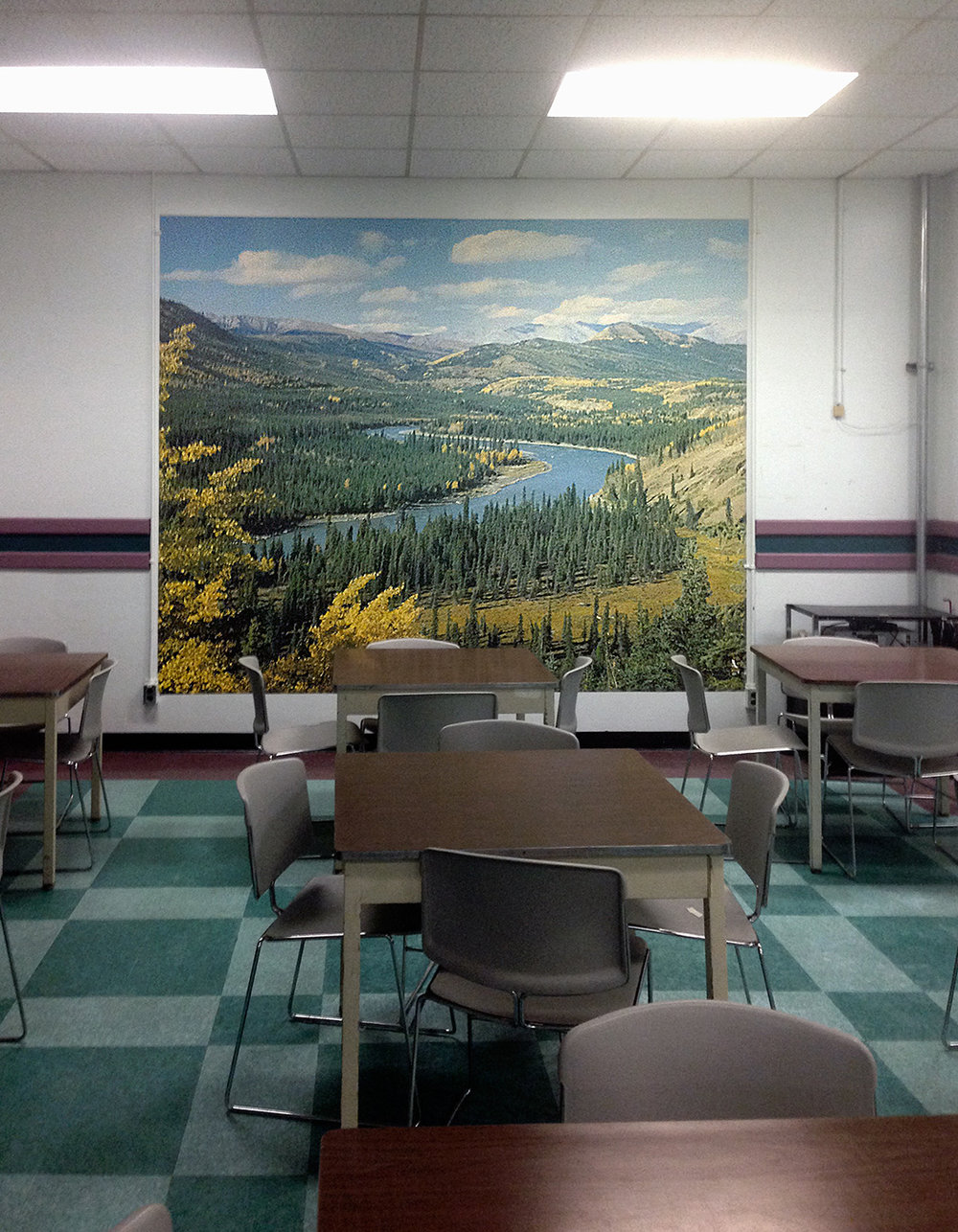 © Douglas Moffat, Cafeteria - Central Emergency Government Headquarters, CFB Carp, Ontario (2015).