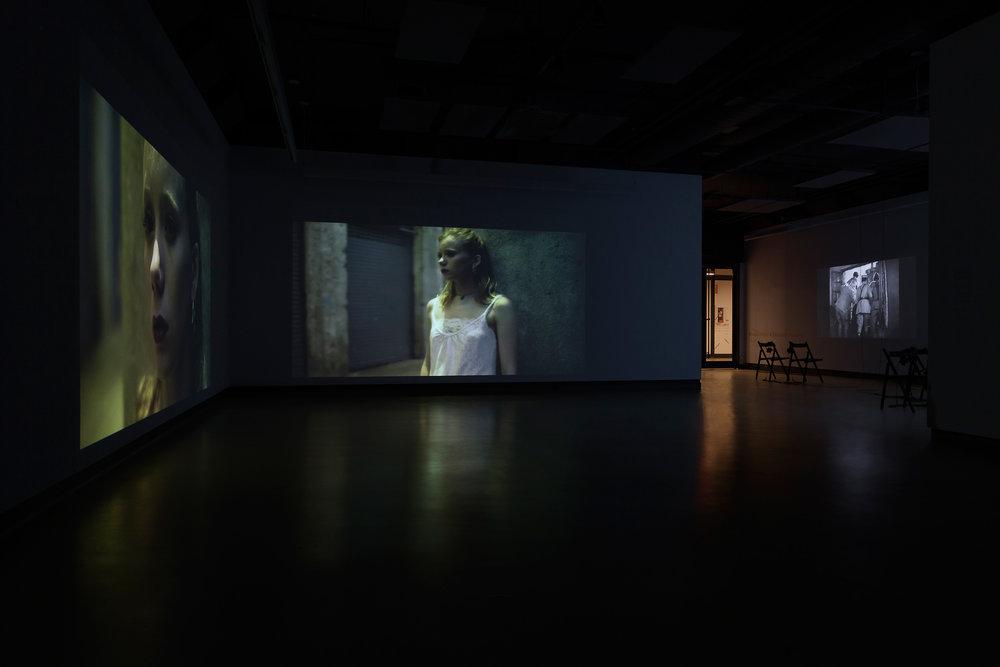 © Nicolas Klotz & Elisabeth Perceval, vue de l'exposition (2017). Photo : Marilou Crispin.