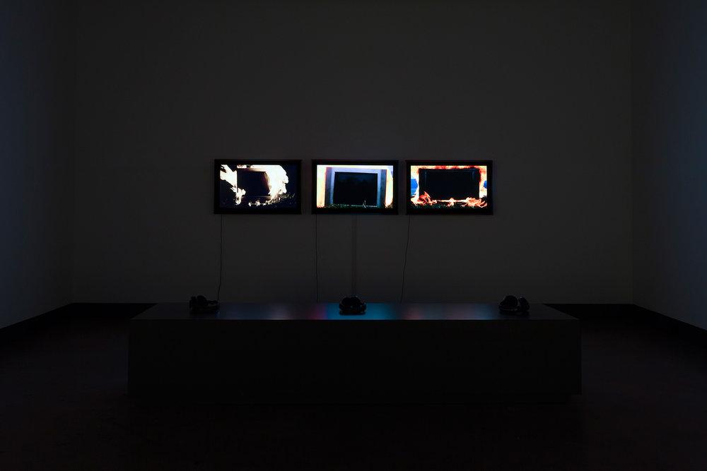 © Nicolas Klotz & Elisabeth Perceval, Nous ne figurons pas dans le paysage (2013). Vue de l'exposition. Photo : Marilou Crispin.