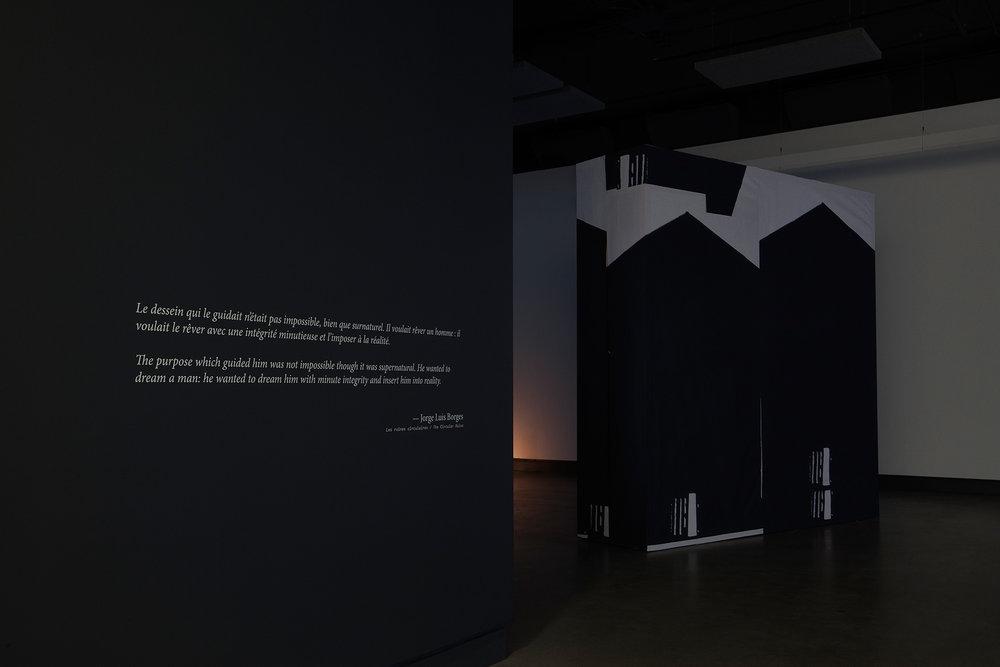© Velibor Božović, vue de l'exposition Nothing Will Surprise You Here(2017). Photo : Marilou Crispin.