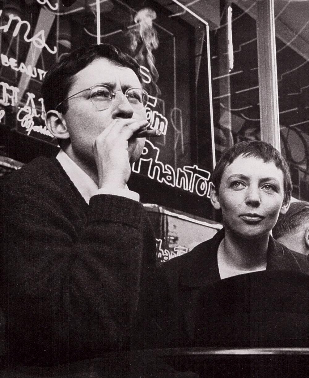 Photographie de Guy Debord et Michèle Bernstein.