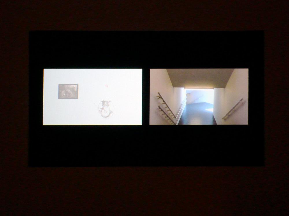 © David Tomas,  Probe  (2006-2007). Vue de l'exposition. Photo : Dazibao.