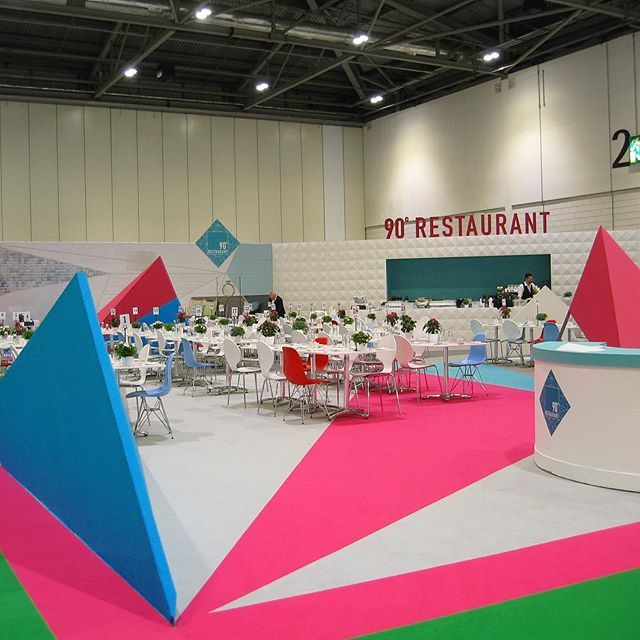 Our 90 degree designed restaurant at #granddesignslive