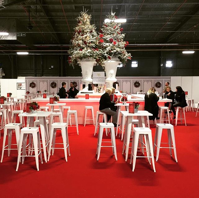 Our Christmas champagne bar all designed up during the Ideal Home Show at Christmas.