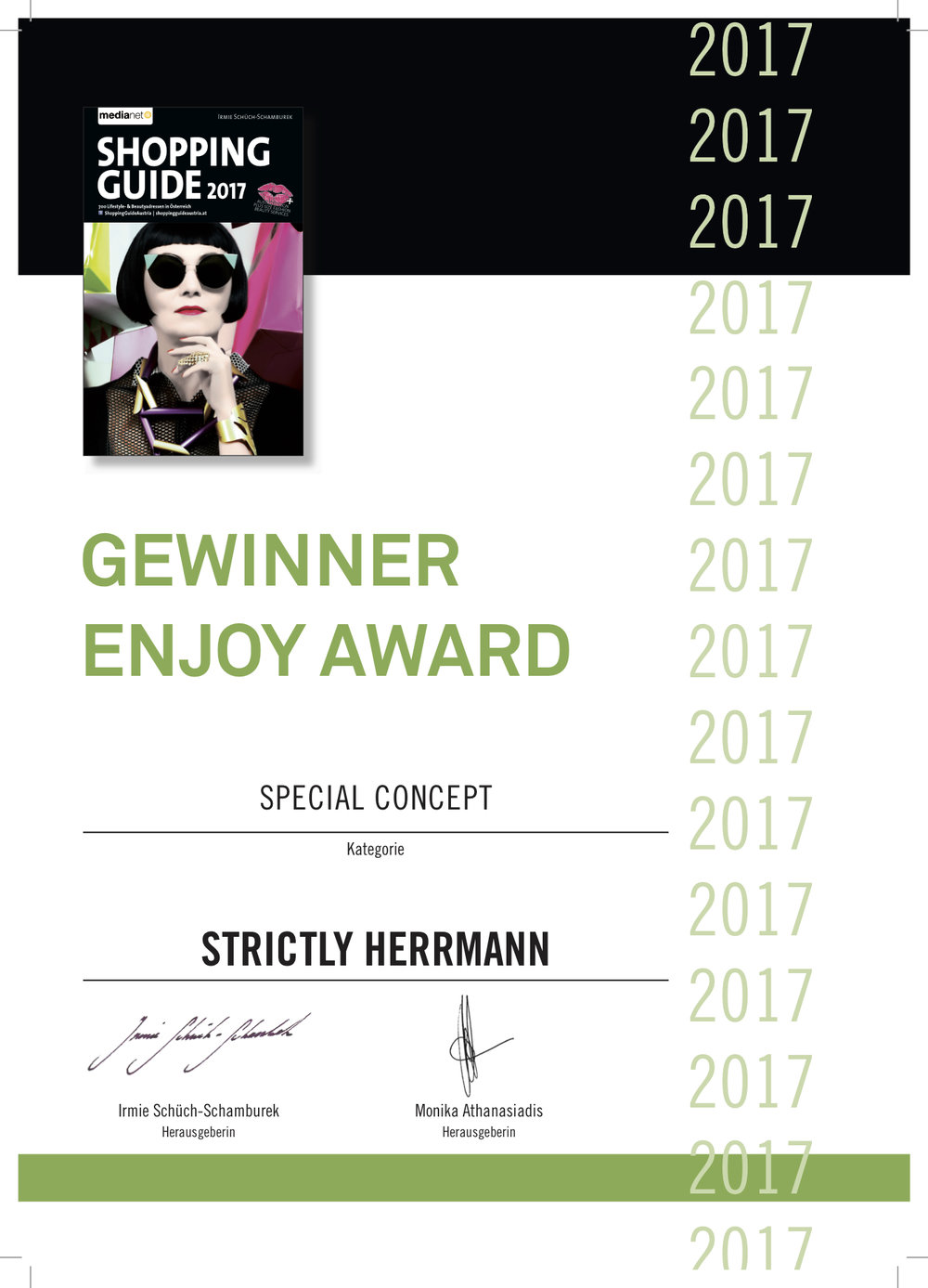 Gewinner Enjoy Award 2017, Medianet