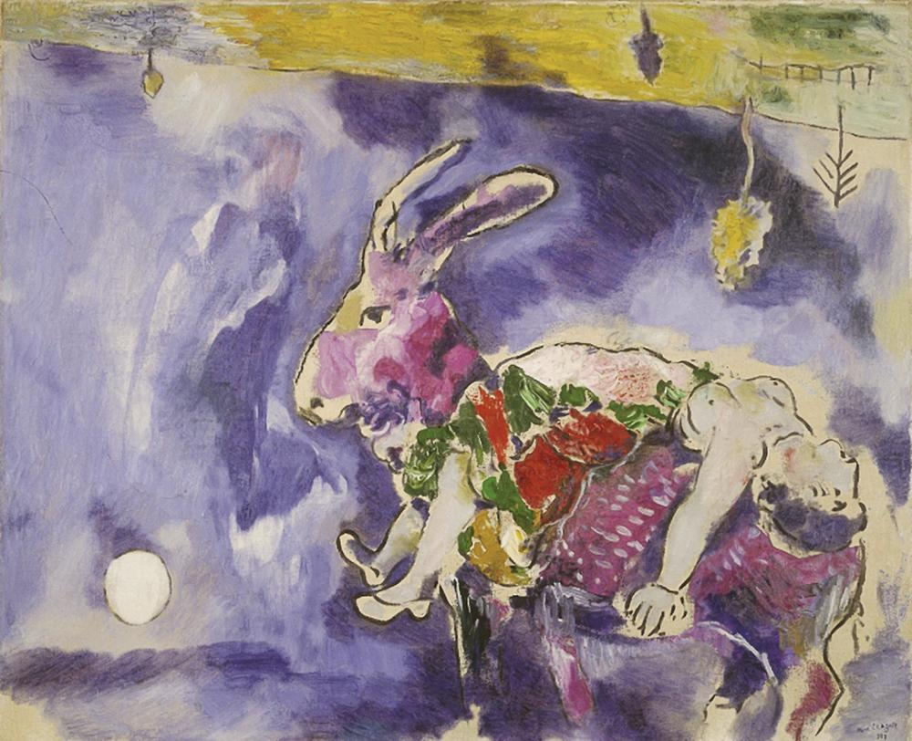 The dream (The rabbit) by Marc Chagall © 2015 Artists Rights Society (ARS) New York / ADAGP, Paris