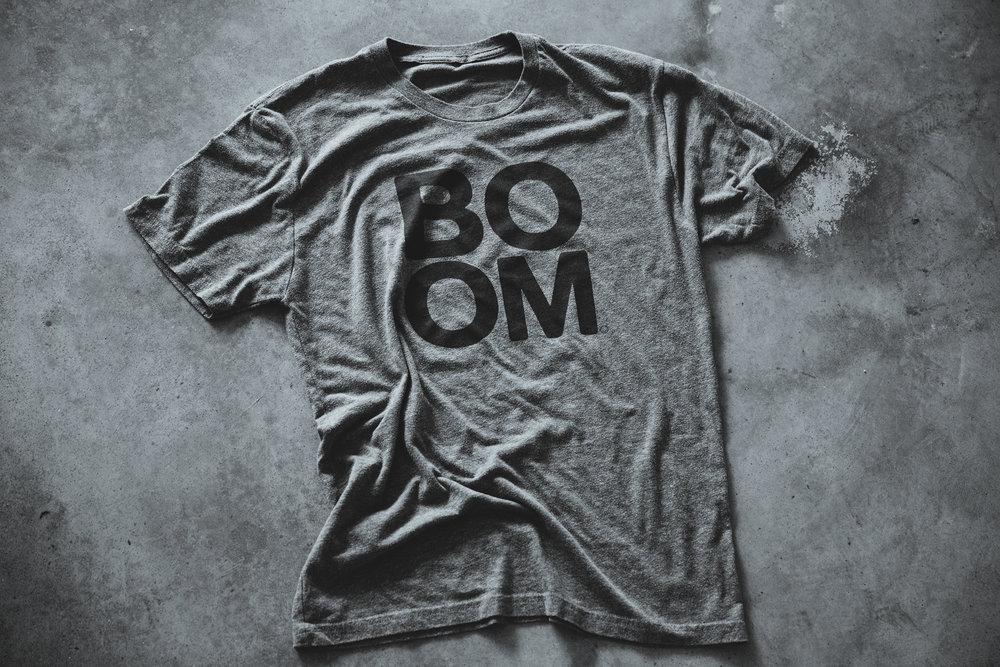 BOOM Heather Grey Triblend T-shirt