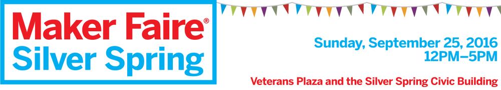 logo Silver Spring Maker Faire banner