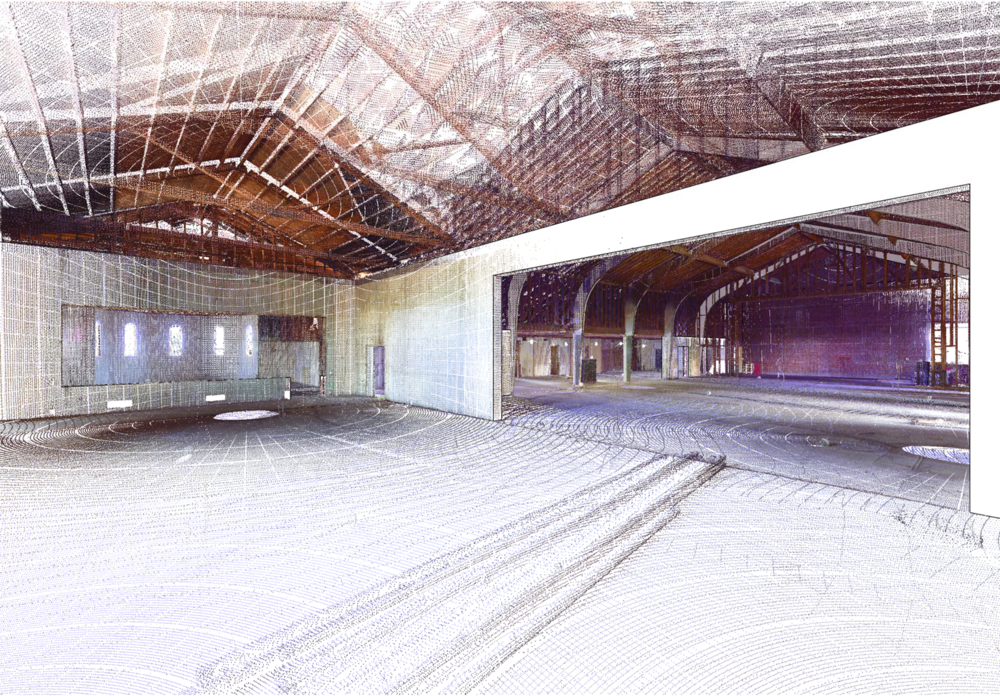 Point Cloud overlay of the Big Earll & Vault spaces