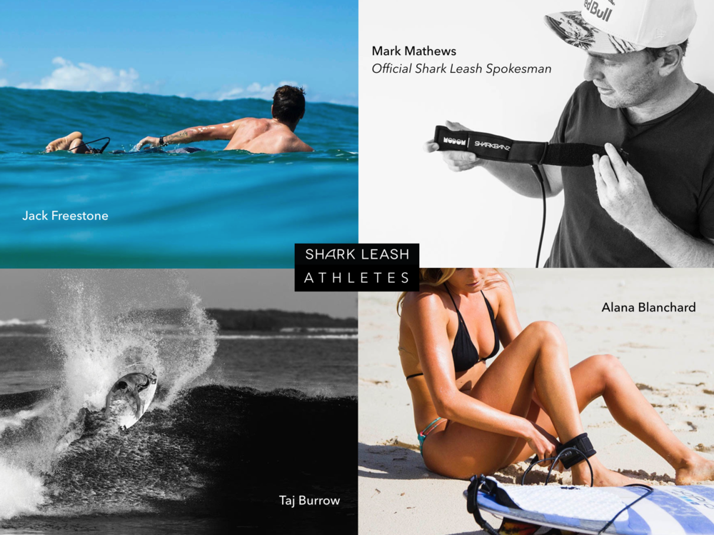 Sharkbanz - Sharkleash - Modom - Surf - Jack Freestone - Alana Blanchard - Mark Mathews - Taj Burrow