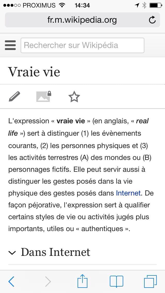 wiki vraie vie