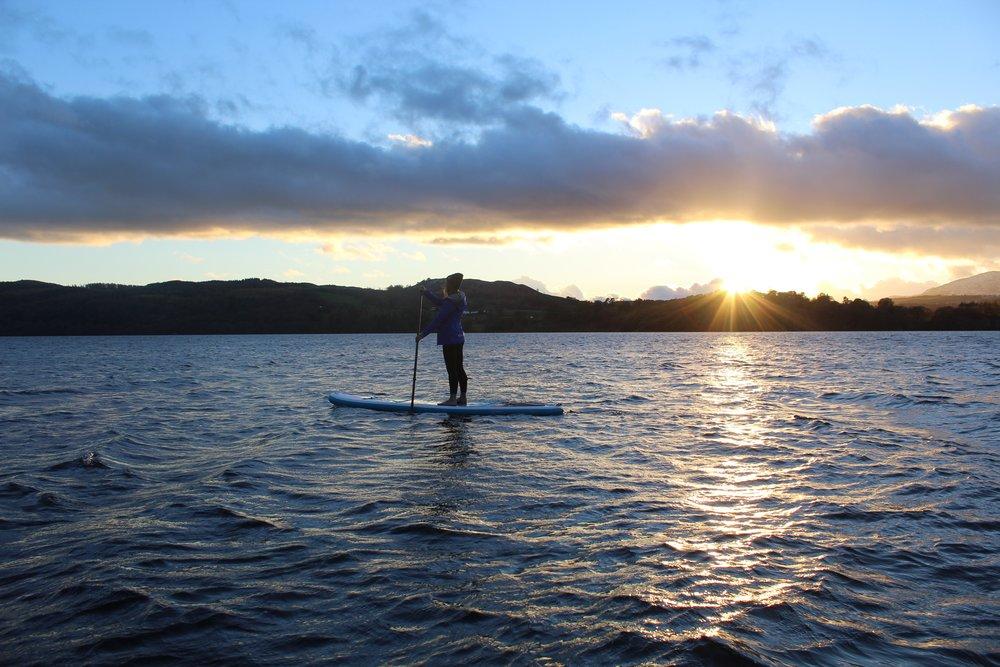 Sunset paddle on Windermere.