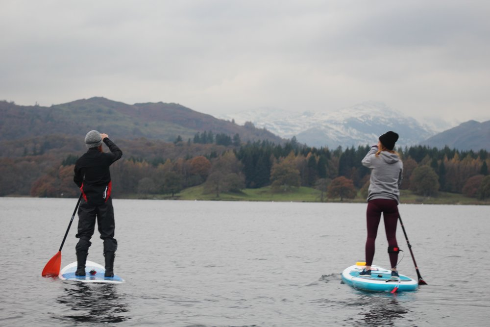 Paddling on Windermere with Sean