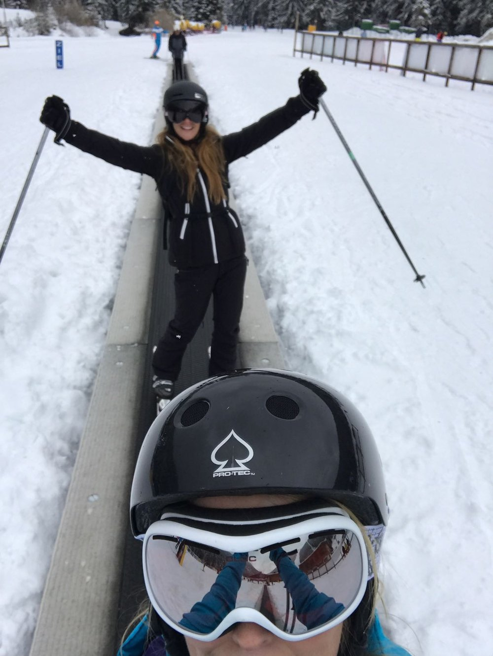 Starting out on the baby slopes
