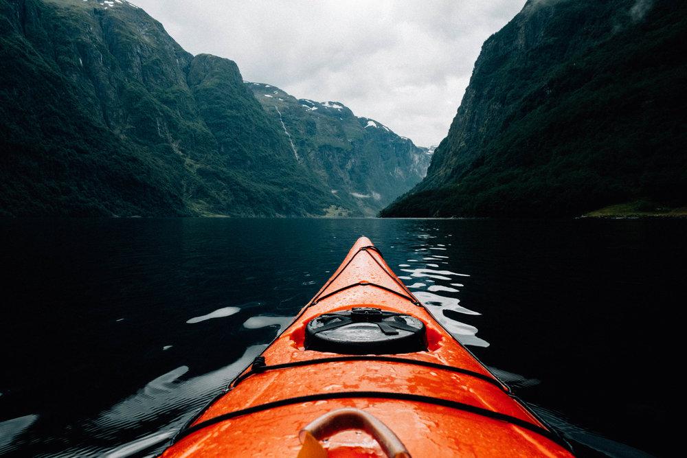 kayaking norwegian fjords
