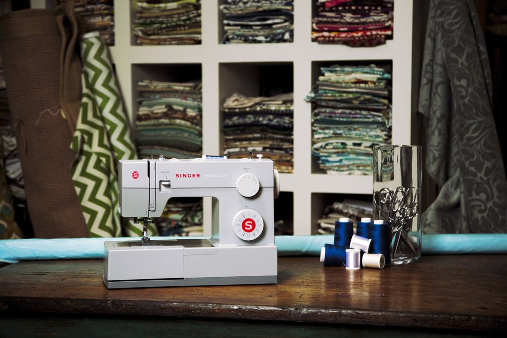 Product photography for Singer Sewing Company