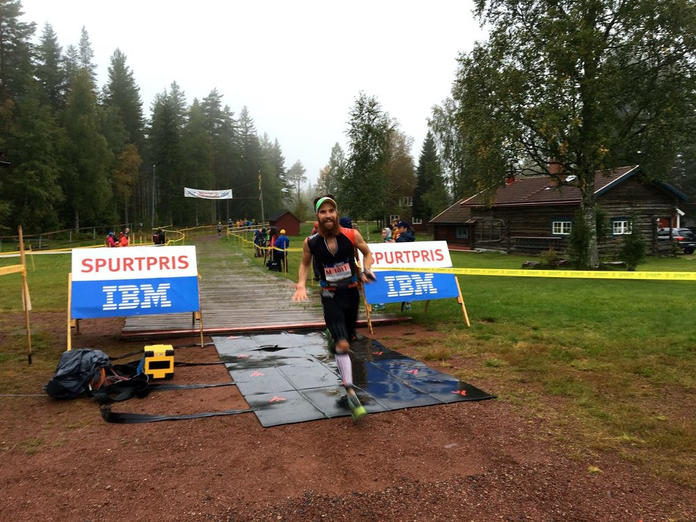 Leading the Ultravasan 90K @ 24K. Photo Credit: Bryon Powell of   IRunFar.com