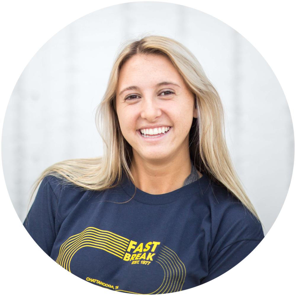 Taylor Sawye r  Currently a UTC track and field 800m runner, but hopes to race long triathlons in the future! She is our resident chalkboard artist and makes everything pretty!