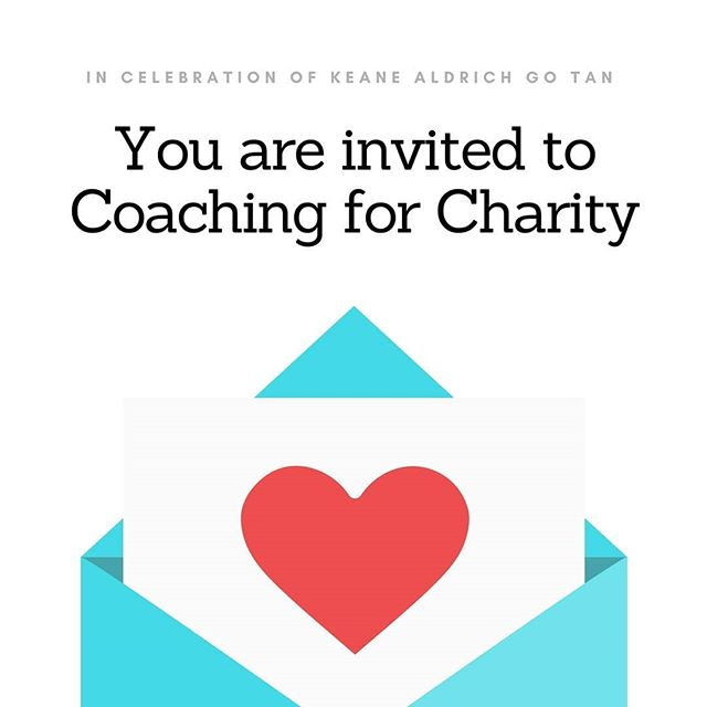 COACHING FOR CHARITY. YOU'RE INVITED!  In honour of @keanetan and his birthday on May 17, I am raising money for the Canadian Digestive Health Foundation. ❤ Every year, my mum, Keane, and I donate to a charity of our choice on Christmas. This year, we had skipped that tradition because of his passing.  Keane's entrepreneurial journey is grounded in philanthropy. Our parents worked 100 hours/week growing up, so that they could provide us a life in Canada. We always felt that charity was important, a way to give back for what we received. Keane's first startup, Atlas, was a crowdsourcing platform for charities. It has always been Keane's and my dream to create a charity under our family name, and to spend the latter half of our lives running it together.  In celebration of Keane, I will be offering Pay-What-You-Want coaching sessions. 🌞 For anyone that contacts me before May 17, I hope to serve you this way. My clients are entrepreneurs, founders, and survivors, and I know how to hold the space for pain, doubt, judgment, resentment, and trauma. More importantly, I know how to shine in a world of chaos, bringing play, love, gratitude, joy, and faith into what we do. I hope you will join me! 😀  Steps: (1) Comment or PM me for a 1-hour coaching session (2) After your session, donate any amount to https://www.gofundme.com/keane-aldrich-go-tan-memorial-fund/ (3) Any funds from Coaching for Charity, along with the money that my mum and I will be giving, will be donated on Keane's birthday. 🙏 Stay tuned on May 17! (4) Share this post with family and friends! 😀 Much love. X