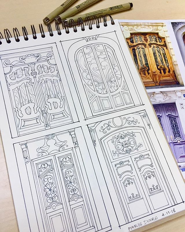 Paris doors! Every time I travel I make my husband stop and take a picture whenever we see a cool door. If you love doors as much as I do, I have a Spain doors series as well. Next, San Francisco doors! I can't wait to paint this because of all the beautiful colors 😊👩🏻‍🎨🚪