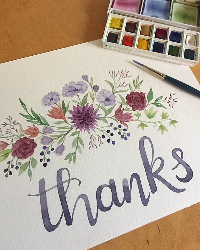 Making a thank you card a little late for all the graduations celebrations this year. But it's never a bad time to say thank you!