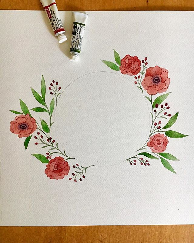 A little floral wreath study to spice up my Tuesday. Finished this watercolor last night while listening to My Favorite Murder podcast because I am addicted!