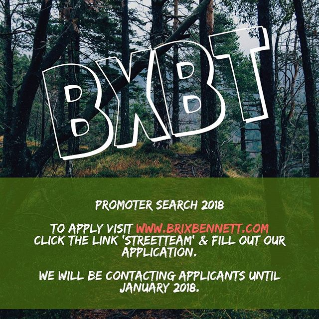 Don't miss the chance to get in on our new promoter program. #promoterperks #bxbtstreetteam #promoters #models #photography #designsforthediverse #adventureline #forthejourney