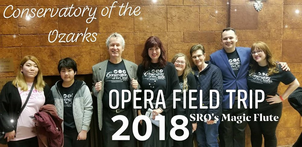Conservatory of the Ozarks Opera Field Trip, 2018, Magic Flute by Springfield Regional Opera