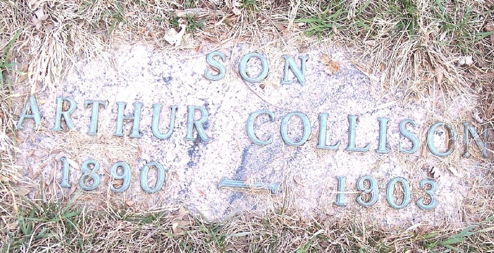 Gravestone of Arthur Collison, Mount Olivet Cemetery, Carroll, Iowa (Geo. Clinton / Find a Grave)