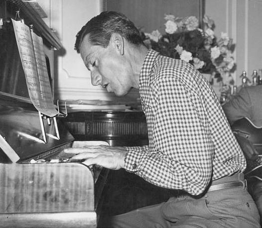 Hoagy Carmichael composing (Indiana University)