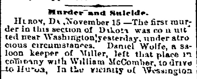 Detail from the Wheeling (West Virginia) Register, November 16, 1882, page 1