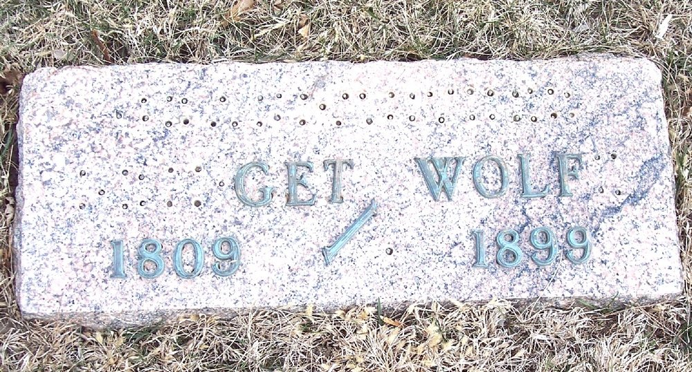 Gravestone for Bridget Ann Foley Wolfe, Saint Joseph's Cemetery, Carroll, Iowa (Geo. Clinton / Find a Grave)