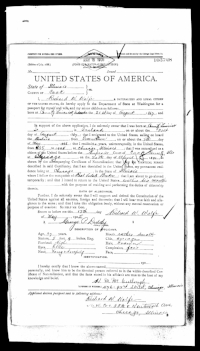 U.S. passport application, Richard W. Wolfe, May 13, 1905 (  National Archives  )