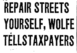headline from the  Chicago Tribune , July 26, 1928, page 12
