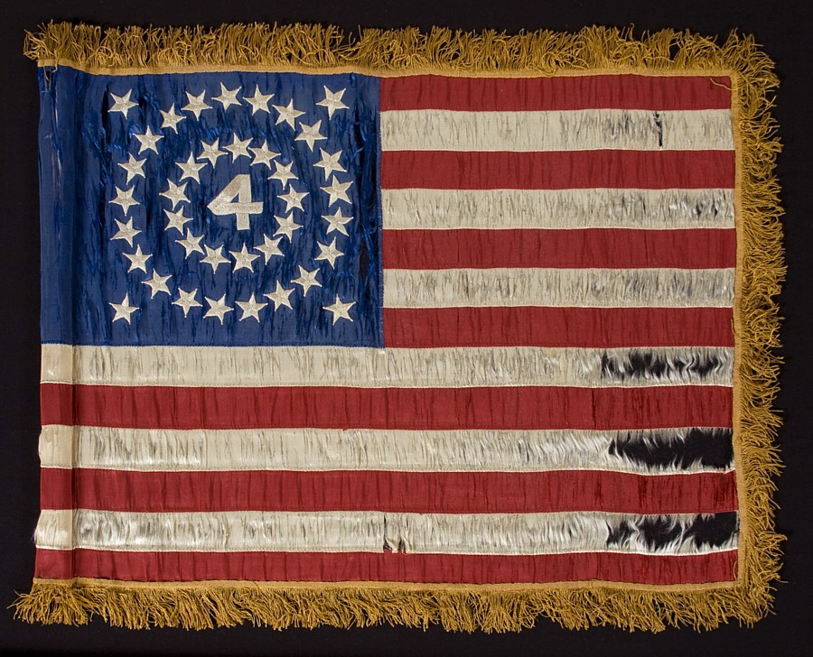 Guidon flag for the 4th U.S. Infantry Regiment, ca. 1876 (  Jeff R. Bridgman  )