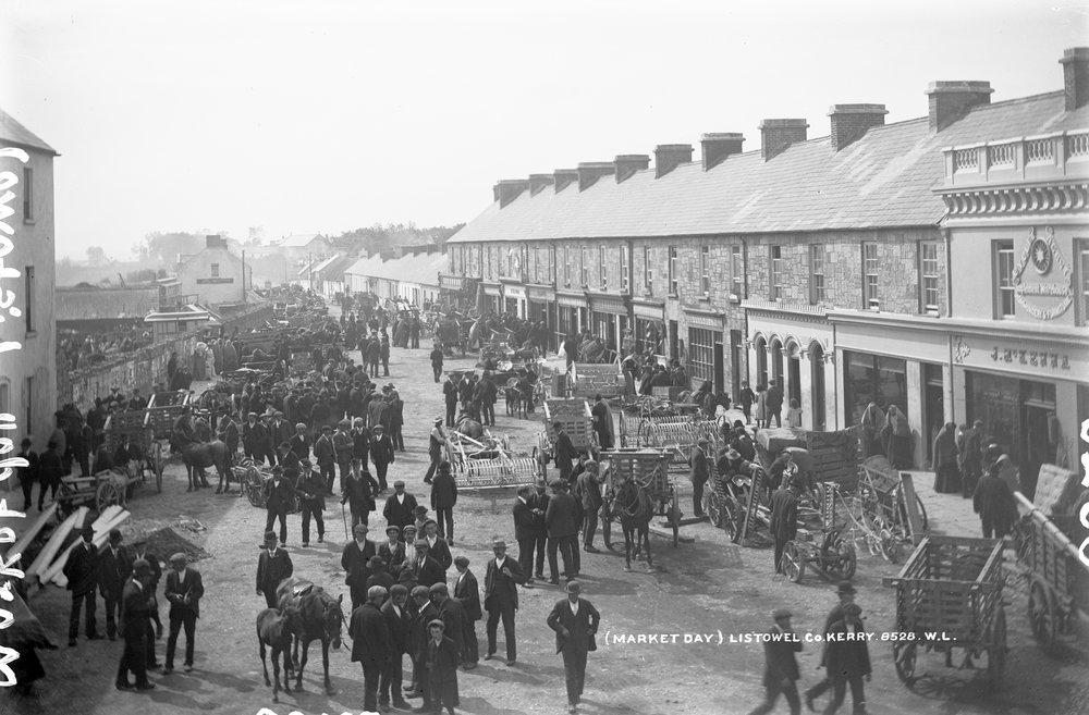 Market Day, Listowel, County Kerry, ca. 1900 (National Library of Ireland)