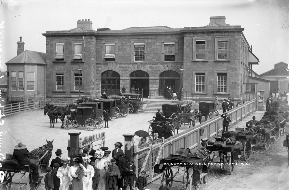 Limerick train station, 1907 (National Library of Ireland)