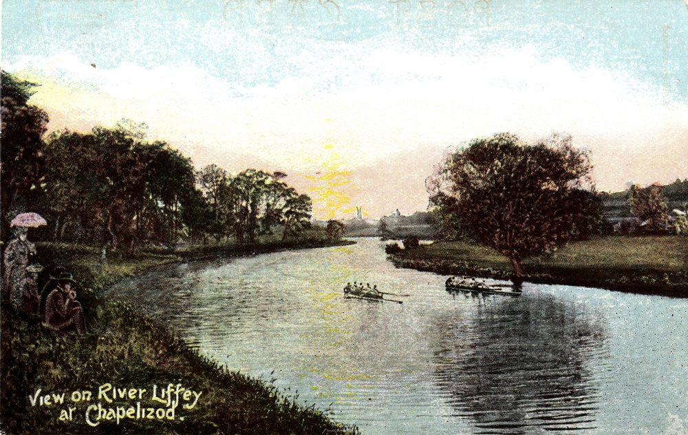 View on River Liffey at Chapelizod, 1890 (  Emerald Series Ireland  )