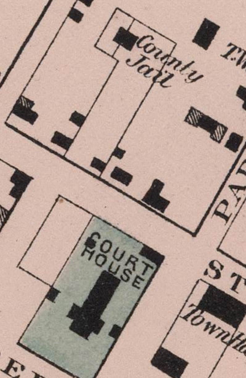 From a   map of Charlottesville   by Ormando Willis Gray (1877)