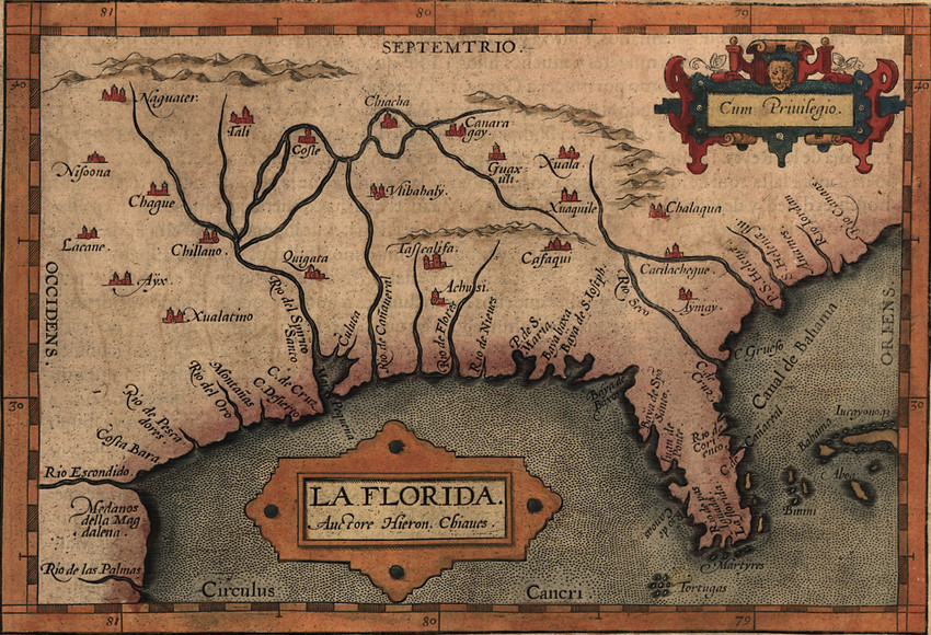 The Spanish territory of   la Florida  , ca. 1570 (Library of Congress)